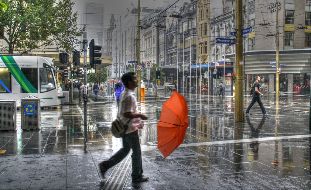 Rain swept streets